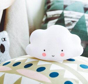 ~白色~微笑雲朵 夜燈 小  寶寶台燈安撫燈 可愛療癒無線小云朵 ~Limiteria~
