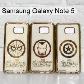 漫威復仇者電鍍軟殼SamsungGalaxyNote5N9208蜘蛛人鋼鐵人美國隊長【Marvel正版】