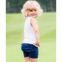 【hella 媽咪寶貝】美國 RuffleButts 小公主甜美荷葉短褲_海軍藍 (BRSP08)