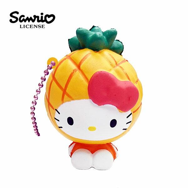 鳳梨款【日本進口】Hello Kitty 凱蒂貓 水果造型 捏捏吊飾 吊飾 捏捏樂 軟軟 三麗鷗 Sanrio - 614629