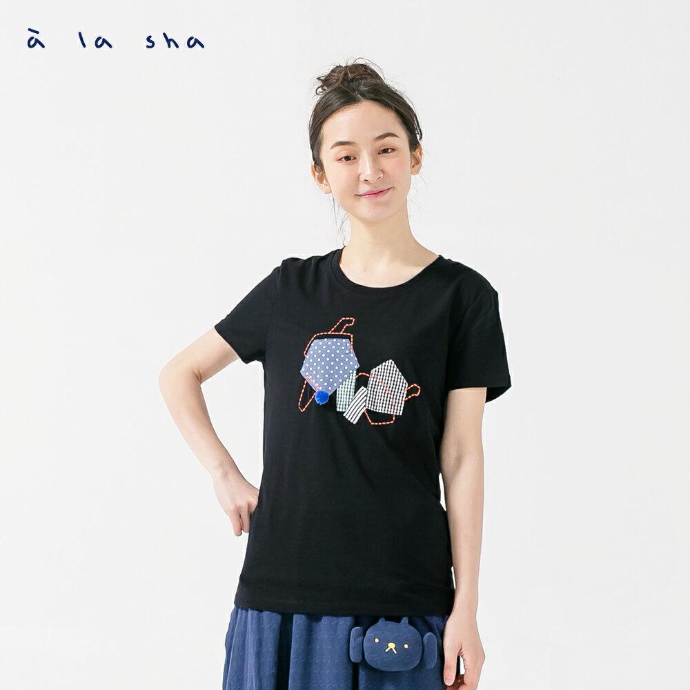 à la sha 大象鼻子好長短袖上衣 1