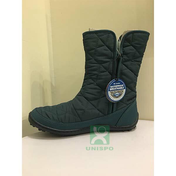 《台南悠活運動家》COLUMBIA UBL15970 防水保暖雪靴-孔雀綠