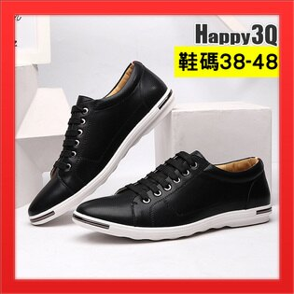 綁帶休閒鞋加大男鞋大尺碼小白鞋47男生鞋子48-白黑藍黃紅38-48【AAA4011】