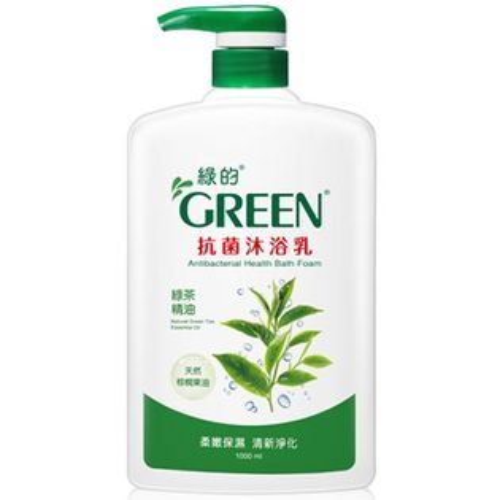 綠的GREEN抗菌沐浴乳綠茶精油1000ml