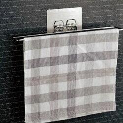 無痕貼系列 抹布架 毛巾架 擦手巾 浴室毛巾架 廚房 不鏽鋼 壁掛式 無痕 收納架【B062555】