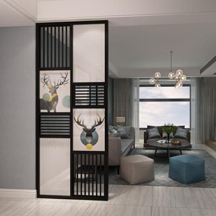 北歐實木屏風隔斷客廳裝飾玄關臥室遮擋入戶現代簡約小戶型家用