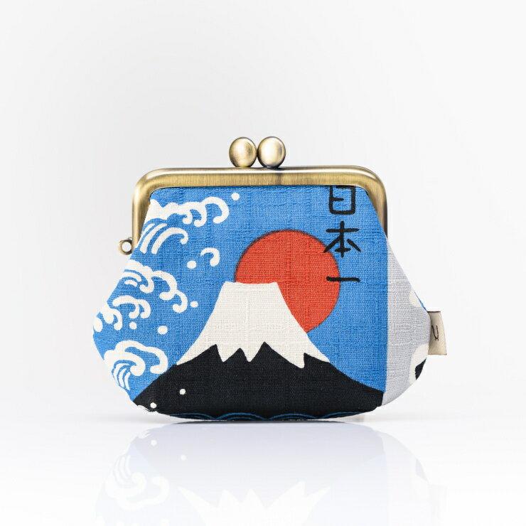 《HARU》富士山角形零錢口金包 日本製 純手工
