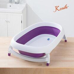 抗霉耐用嬰幼兒防滑浴盆(附浴網及躺椅)-夢幻紫 Karibu Mega【小丁婦幼】