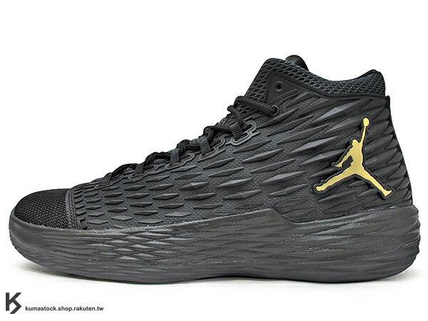 2017 NBA 明星前鋒 Carmelo Anthony 代言 NIKE JORDAN MELO M13 X 全黑 金飛人 KURIM 科技鞋面 FLIGHTSPEED + ZOOM AIR 避震科技傳導 XDR 耐磨橡膠外底 NYC 紐約尼克隊 (902443-002) 0117 0