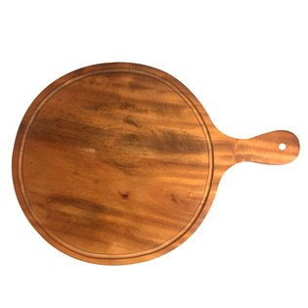 原然北歐風鐵木坊木製圓型披蕯盤1入CA7808披蕯圓盤廚房餐具露營用品料理擺盤砧板