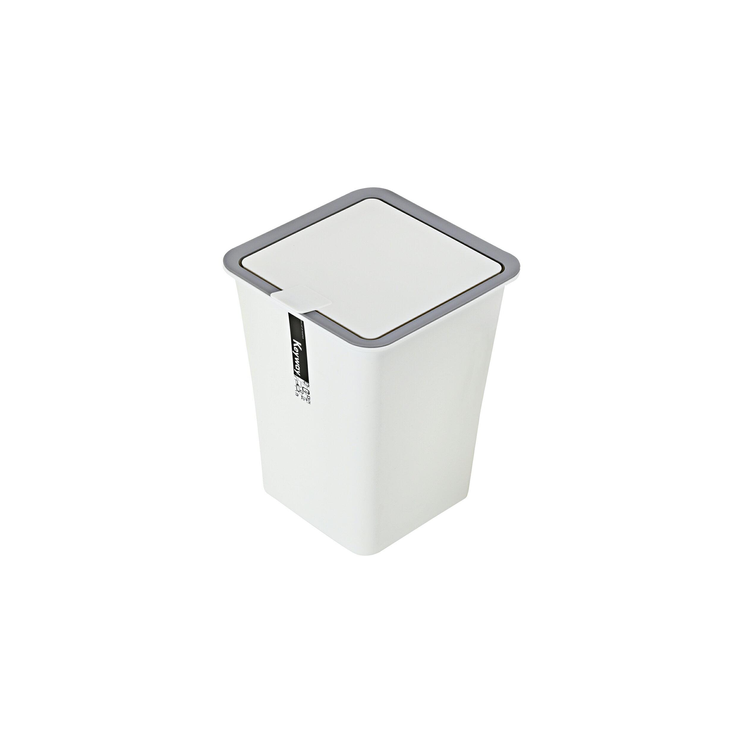 掀蓋式垃圾桶/環保概念/MIT台灣製造 (中)吉納掀蓋垃圾桶 C-5302 KEYWAY聯府