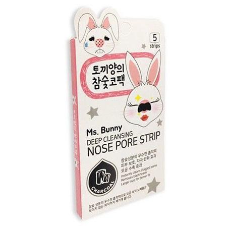 韓國MYBUNNY黑炭深層清潔妙鼻貼(5張盒)妙鼻貼黑頭【N600207】