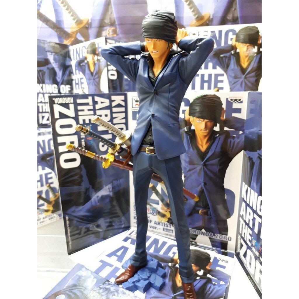 【預購】日本進口日版 金證 海賊王 索隆 KING OF ARTIST THE RORONOA.ZORO 藍・紅【星野日本玩具】