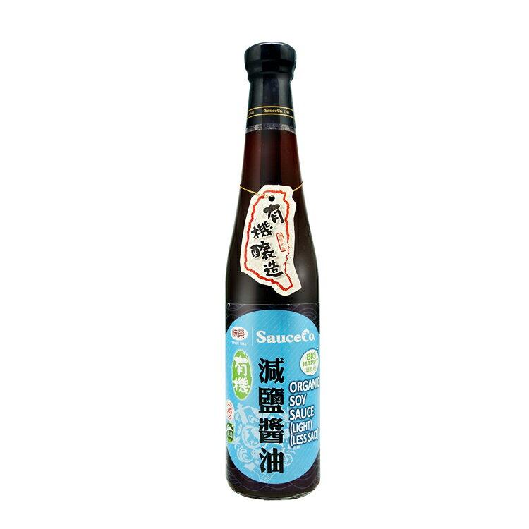 【味榮】有機豆麥減鹽醬油(420m)