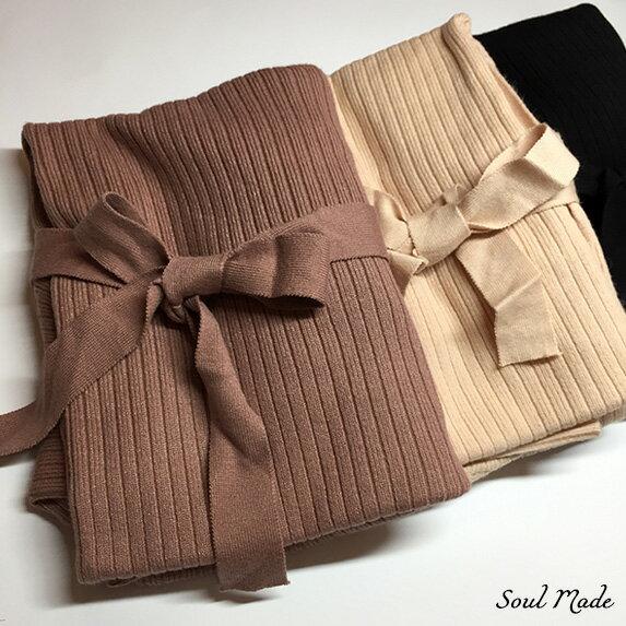 Soul Made - 軟料針織袖綁帶洋 8