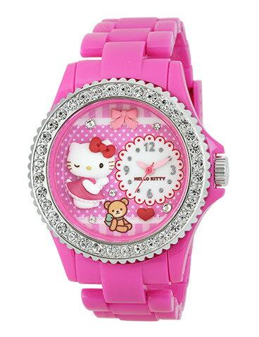 X射線【C776106】HelloKitty 手錶(粉),時鐘/掛鐘/壁鐘/座鐘/鬧鐘/鐘錶/手錶/潛水錶