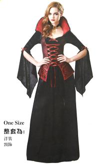 X射線【W380159】紅馬甲吸血鬼,死神/巫婆/尾牙/萬聖/聖誕/大人變裝/cosplay/表演/攝影/寫真/德古拉/話劇/皇后