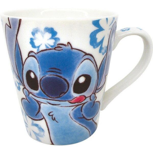 ~真愛 ~ 17062800001 陶瓷馬克杯~ST扶桑花藍 迪士尼 星際寶貝 史迪奇 杯