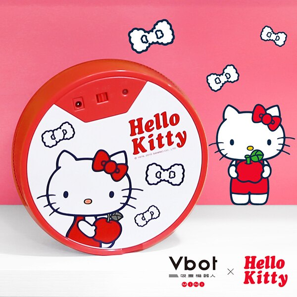 掃地機 Vbot x Hello Kitty 二代限量 鋰電池 智慧掃地機器人(極淨濾網型)紅 完美主義【Y0020】