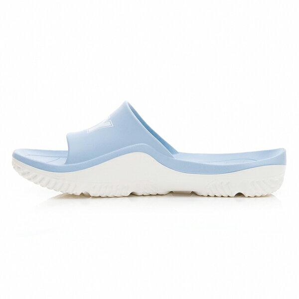《超軟Q防水拖》Shoestw【92U1FL07PB】PONY PARK-X 防水拖鞋 海灘拖鞋 軟Q 拖鞋 水藍白 女生尺寸 2