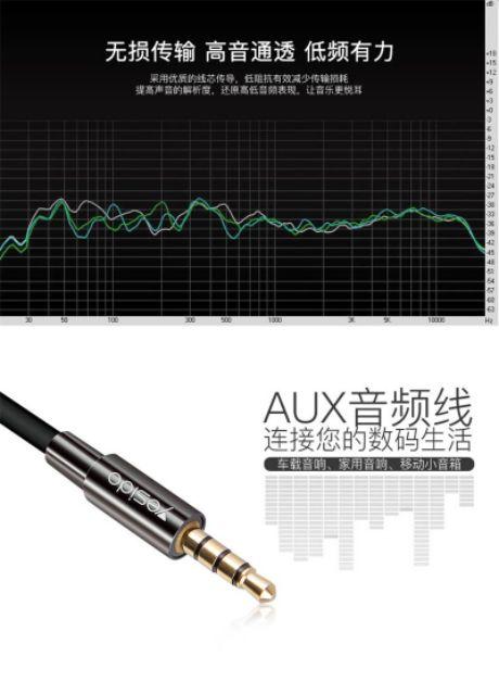 【k歌專屬】直播手機孔用 1米 專業發燒級3.5mm鍍金音樂轉換 PVC手機音頻線 直播聲卡 車載音頻線 aux音