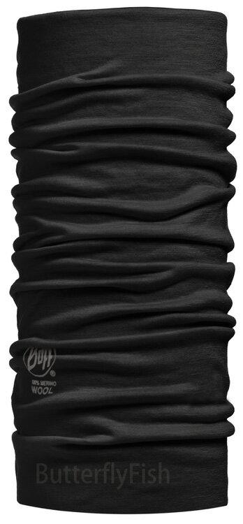 POLAR WOOL Buff -黑色幽默 美麗諾羊毛 頭巾;BF100637; 蝴蝶魚戶外用品