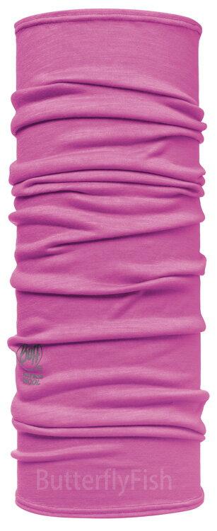POLAR WOOL Buff -桃紅素面 美麗諾羊毛頭巾;BF107865;蝴蝶魚戶外用品