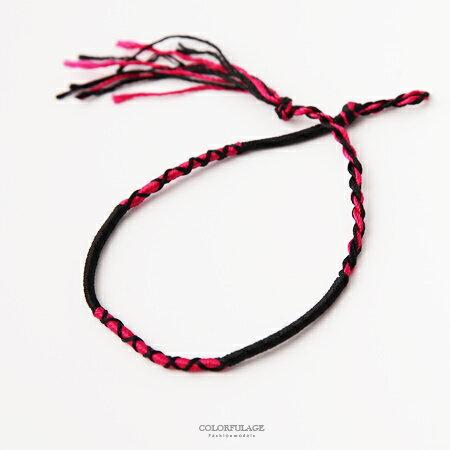 手環 海洋音樂際手工編織幸運繩 墾丁衝浪手鍊腳鍊 鮮豔多色男女適用 柒彩年代【NAB11】單條價格