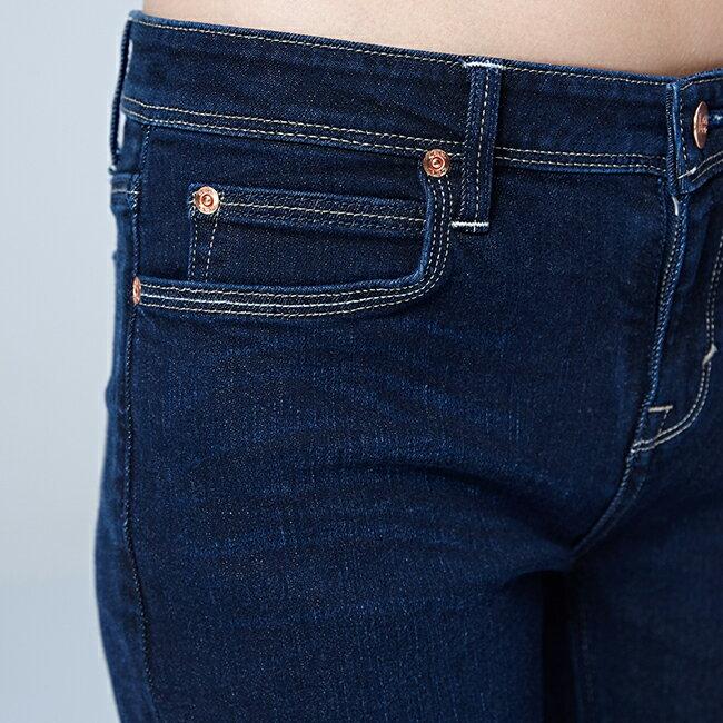 Lee 433高腰合身窄腳牛仔褲 / RG-深藍色 3