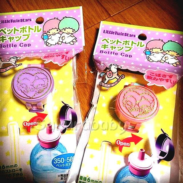 日本 三麗鷗 kikilala 雙子星 寶特瓶蓋 造型瓶蓋 櫻花寶寶