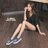 格子舖*【AS505】水鑽蝴蝶刷色牛仔布破壞 V口鬆緊厚底增高3.5cm帆布鞋 懶人鞋 2色 2