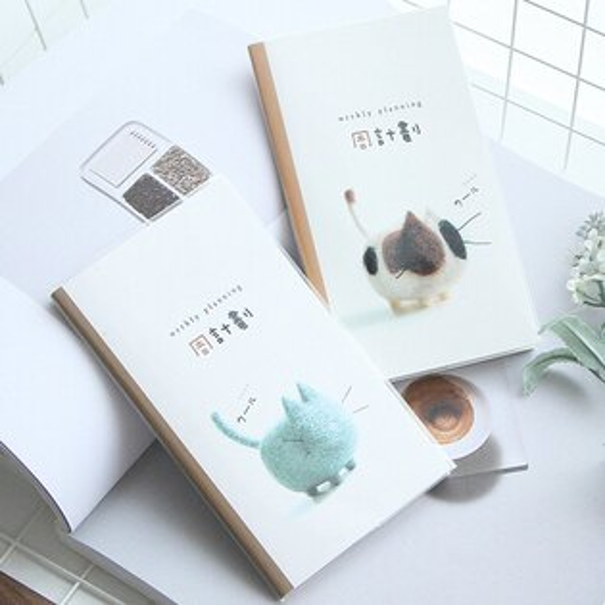 ♚MYCOLOR♚創意膠套記事周計畫本文具學生辦公用品插畫日記本簡潔【P170】