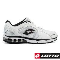 健身老爸慢跑鞋推薦到【巷子屋】義大利第一品牌-LOTTO樂得 男款情侶款氣墊運動慢跑鞋 [5338] 白黑就在巷子屋推薦健身老爸慢跑鞋