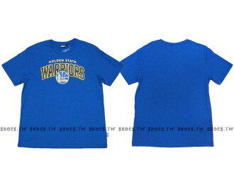 《換季折扣》Shoestw【8630238-023】NBA T恤 金州 勇士隊 迷彩字 藍色
