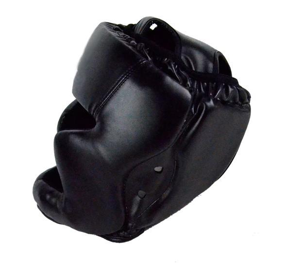 Headgear Head Guard Training Helmet Kick Boxing Protect Gear Black 2