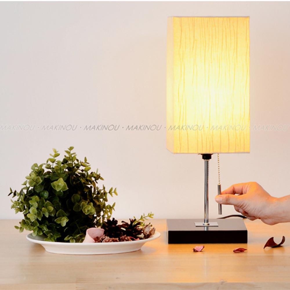 燈|日本MAKINOU和風木質桌燈/檯燈(無附燈泡)|台灣製 夜燈閱讀燈床頭燈 大潤發特力屋 JA牧野丁丁