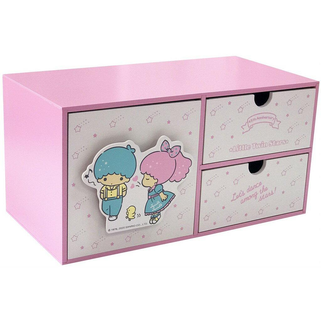 雙子星LittleTwinStars45週年橫式三抽盒,置物櫃/收納櫃/收納盒/抽屜收納盒/木製櫃/木製收納櫃/收納箱/桌上收納盒,X射線【C994071】