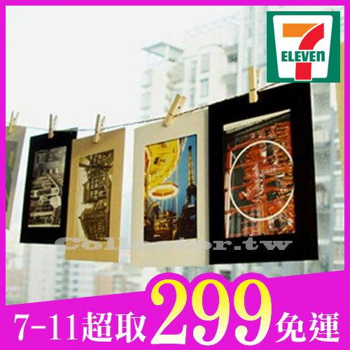 【7-11超取299免運】DIY懸掛式相片牆附麻繩木夾10入裝簡約紙相框