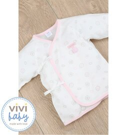 ViViBaby - 貝殼花紗布肚衣 (粉) 0