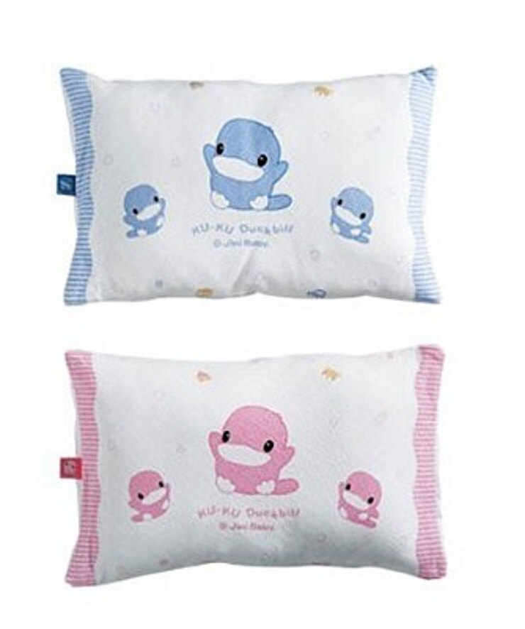 KUKU酷咕鴨親水透氣初生枕(藍 / 粉) - 限時優惠好康折扣