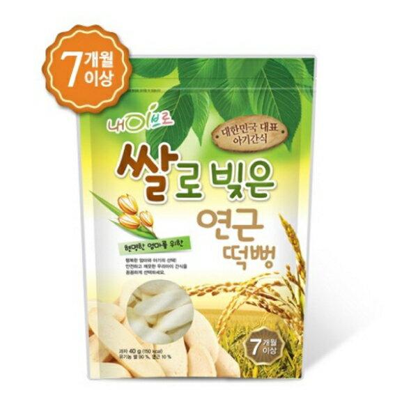 【任選3包特價$549】【安琪兒】韓國【NAEBRO銳寶】米糕爆米花40g蓮藕口味-7個月以上適用