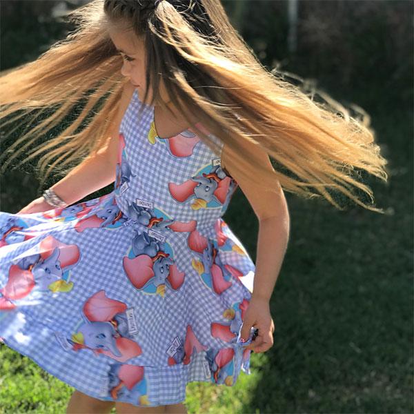 ins小飛象洋裝小洋裝裙子大象卡通可愛童裝歐美ANNAS.