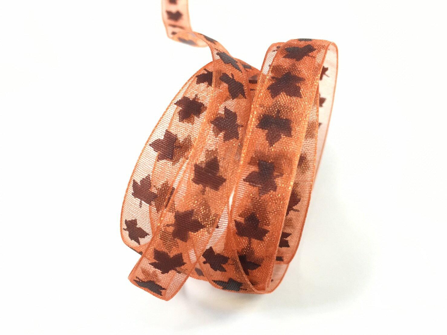 網紗秋楓緞帶 10mm 3碼裝(3色) 1