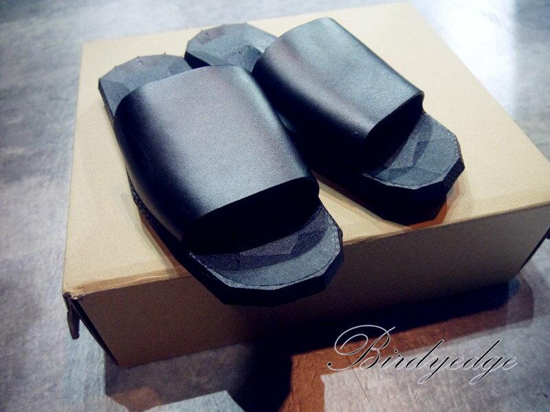 立體 浮雕 防水 涼鞋 拖鞋 外出鞋 白鞋 暗黑 幾何 鞋款 拖鞋 黑白兩色 大尺碼 大腳 46-47