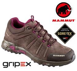 【Mammut 長毛象 瑞士】Convey Low GTX 防水透氣登山鞋 健行鞋 咖啡色 女款 (03230-7431)