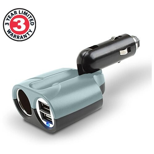 Rapid Car Charger & DC Splitter Adapter Dual USB Ports for GOgroove FlexSMART ,  iKross & More 1
