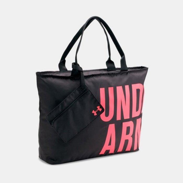 美國百分百【Under Armour】運動時尚 UA Logo 手提袋 肩背包 托特包 瑜珈袋 側背包 黑色 H797
