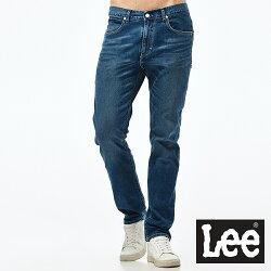 Lee 牛仔褲 726中腰舒適小直筒牛仔褲/UR-男款-藍