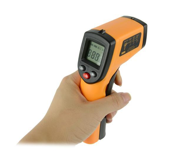 Non-Contact LCD IR Laser Infrared Digital Temperature Thermometer Gun Point GM320 -50~330  ºC 5