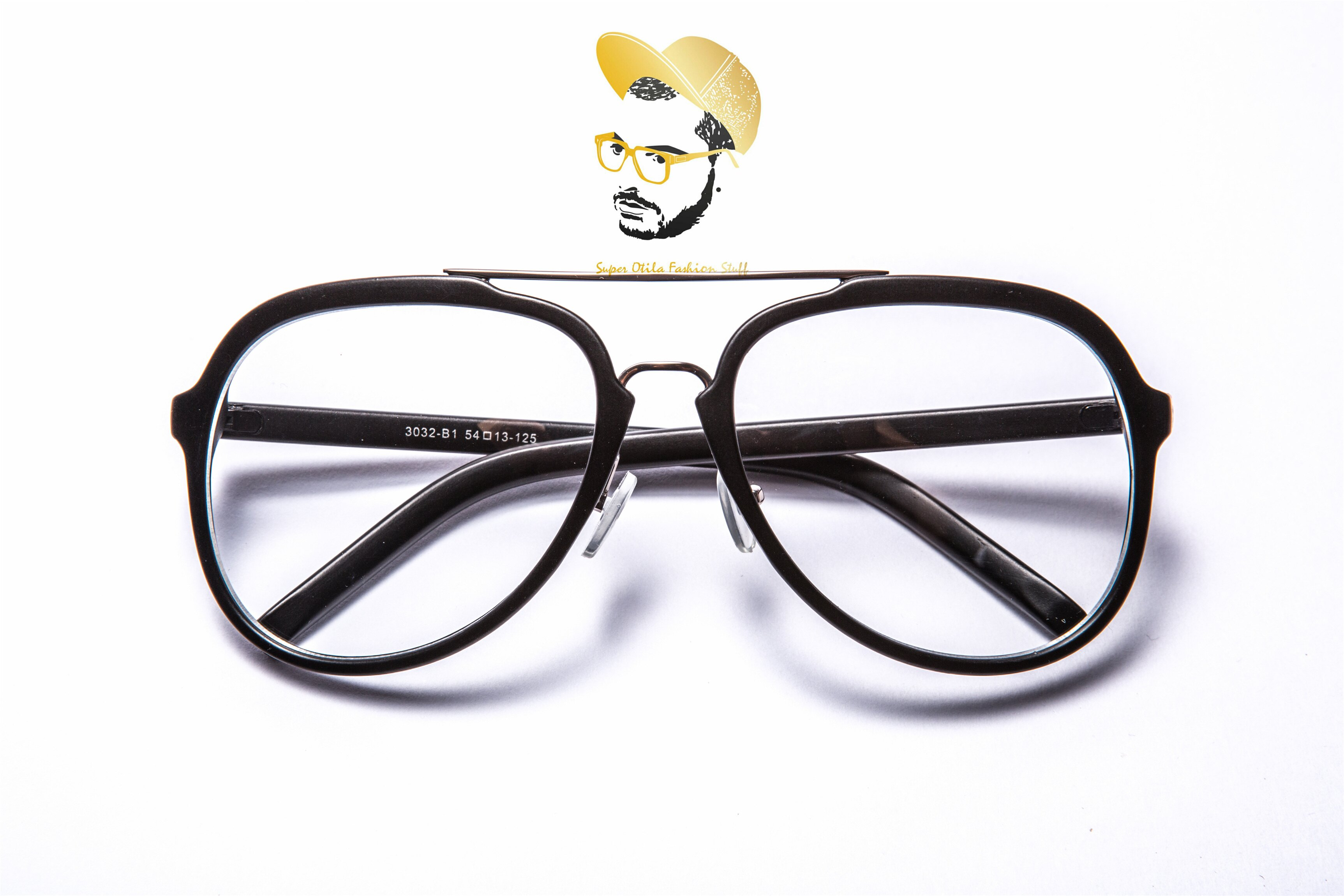 glasses for lovers 太陽眼鏡 墨鏡 眼鏡 韓國 【3032】復古大框-色系齊全-BLACK潮人刷色